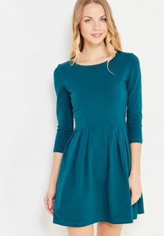 Платье, oodji, цвет: бирюзовый. Артикул: OO001EWXZR02. Одежда / Платья и сарафаны