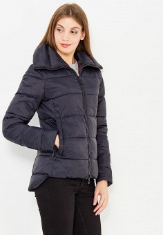 Куртка утепленная, oodji, цвет: черный. Артикул: OO001EWYFW57.