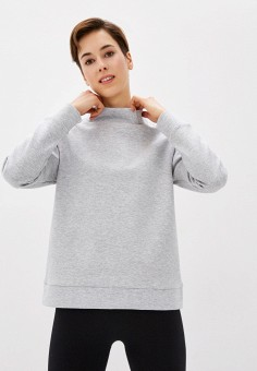 Свитшот, Outhorn, цвет: серый. Артикул: OU004EWHYMT9. Одежда / Толстовки и свитшоты