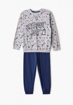 Пижама, OVS, цвет: серый, синий. Артикул: OV001EBGJSD6. Мальчикам / Одежда