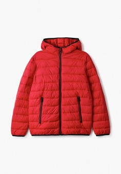 Куртка утепленная, OVS, цвет: красный. Артикул: OV001EBIABM7. Мальчикам / Одежда / Верхняя одежда / Куртки и пуховики