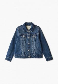 Куртка джинсовая, OVS, цвет: синий. Артикул: OV001EGIAQG6. Девочкам / Одежда / Верхняя одежда / Куртки и пуховики