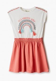 Платье, OVS, цвет: коралловый. Артикул: OV001EGINRP8. Девочкам / Одежда / Платья и сарафаны