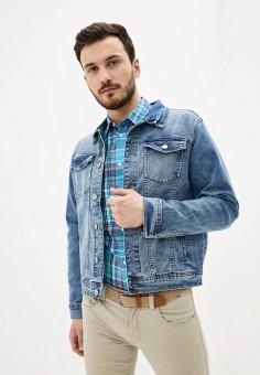Куртка джинсовая, OVS, цвет: голубой. Артикул: OV001EMHUAU8. Одежда / Верхняя одежда / Джинсовые куртки