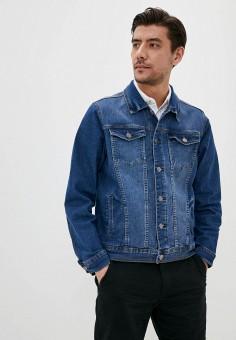 Куртка джинсовая, OVS, цвет: синий. Артикул: OV001EMHUAU9. Одежда / Верхняя одежда / Джинсовые куртки