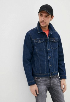 Куртка джинсовая, OVS, цвет: синий. Артикул: OV001EMHUAV0. Одежда / Верхняя одежда / Джинсовые куртки