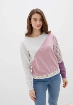 Свитшот, OVS, цвет: розовый. Артикул: OV001EWHTON2. Одежда / Толстовки и свитшоты