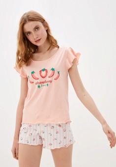 Пижама, OVS, цвет: белый, розовый. Артикул: OV001EWIEIT0. Одежда / Домашняя одежда