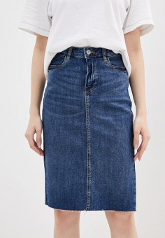 Юбка джинсовая, OVS, цвет: синий. Артикул: OV001EWIEIX7. Одежда / Юбки