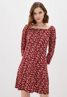 Платье, OVS, цвет: бордовый. Артикул: OV001EWJGDD8. Одежда / Платья и сарафаны / Повседневные платья