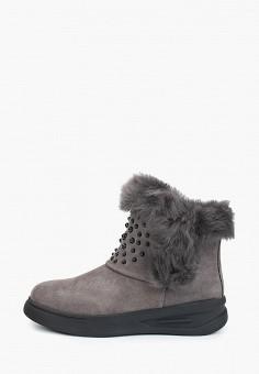 Ботинки, Palazzo D'oro, цвет: серый. Артикул: PA001AWGQHV1. Обувь / Ботинки / Высокие ботинки
