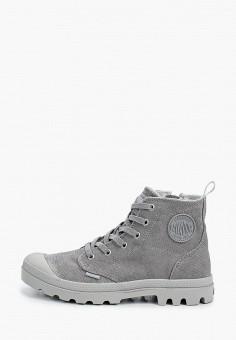 Ботинки, Palladium, цвет: серый. Артикул: PA307AWIKPY0. Обувь / Ботинки / Высокие ботинки