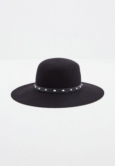 Шляпа, Patrizia Pepe, цвет: черный. Артикул: PA748CWKMPD4. Аксессуары / Головные уборы