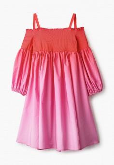 Платье, Patrizia Pepe, цвет: розовый. Артикул: PA748EGHTOW5. Девочкам / Одежда / Платья и сарафаны