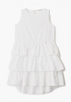 Платье, Patrizia Pepe, цвет: белый. Артикул: PA748EGHTOW7. Девочкам / Одежда / Платья и сарафаны