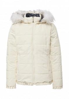 Куртка утепленная, Patrizia Pepe, цвет: бежевый, серый. Артикул: PA748EGWDC37.