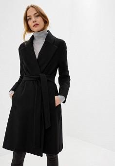 Пальто, Patrizia Pepe, цвет: черный. Артикул: PA748EWGKAO1.