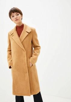 Пальто, Patrizia Pepe, цвет: бежевый. Артикул: PA748EWGQIV0.