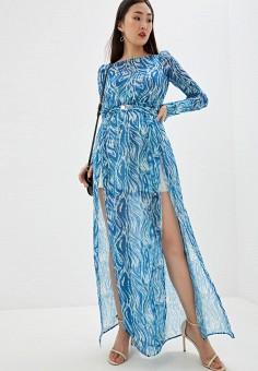 Платье, Patrizia Pepe, цвет: голубой. Артикул: PA748EWHZPW2.