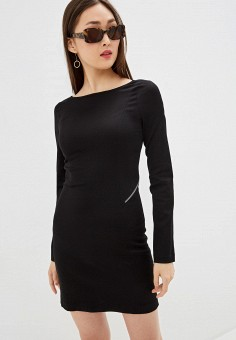 Платье, Patrizia Pepe, цвет: черный. Артикул: PA748EWHZPW4.