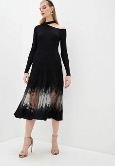 Платье, Patrizia Pepe, цвет: черный. Артикул: PA748EWHZPX4.