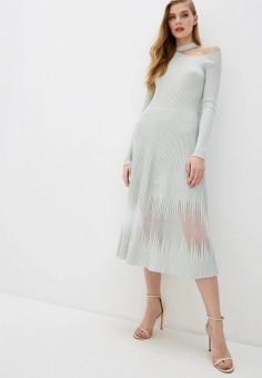 Платье, Patrizia Pepe, цвет: бирюзовый. Артикул: PA748EWHZPX5.