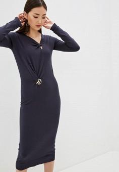 Платье, Patrizia Pepe, цвет: серый. Артикул: PA748EWHZPY0.