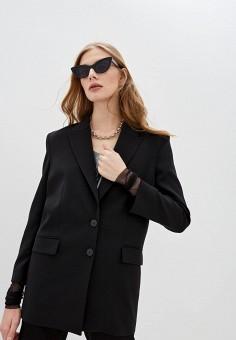 Пиджак, Patrizia Pepe, цвет: черный. Артикул: PA748EWHZQG1. Одежда / Пиджаки и костюмы