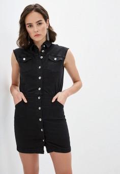 Платье джинсовое, Patrizia Pepe, цвет: черный. Артикул: PA748EWILLM3.