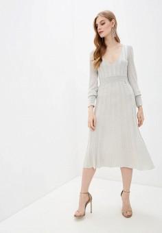 Платье, Patrizia Pepe, цвет: серебряный. Артикул: PA748EWILLO5.