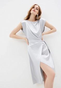 Платье, Patrizia Pepe, цвет: серый. Артикул: PA748EWILLQ8.