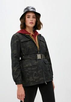 Куртка утепленная, Patrizia Pepe, цвет: хаки. Артикул: PA748EWKMPH3.