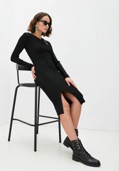 Платье, Patrizia Pepe, цвет: черный. Артикул: PA748EWKMPT6.