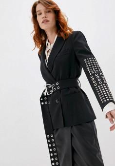 Пиджак, Patrizia Pepe, цвет: черный. Артикул: PA748EWKMQD0. Одежда / Пиджаки и костюмы
