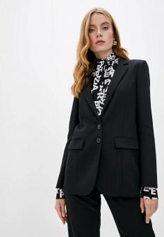 Пиджак, Patrizia Pepe, цвет: черный. Артикул: PA748EWKMQD7. Одежда / Пиджаки и костюмы