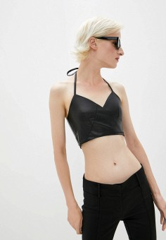 Топ, Patrizia Pepe, цвет: черный. Артикул: PA748EWKMQH0. Одежда / Топы и майки