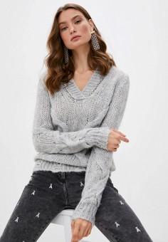Пуловер, Patrizia Pepe, цвет: серый. Артикул: PA748EWKMQI1.