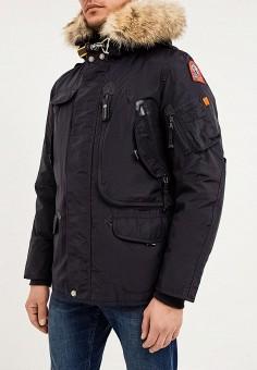 Пуховик, Parajumpers, цвет: синий. Артикул: PA997EMKB829. Одежда / Верхняя одежда / Пуховики и зимние куртки
