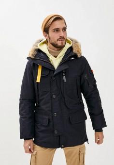 Пуховик, Parajumpers, цвет: синий. Артикул: PA997EMKHPI2. Одежда / Верхняя одежда / Пуховики и зимние куртки