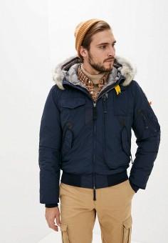 Пуховик, Parajumpers, цвет: синий. Артикул: PA997EMKHPI3. Одежда / Верхняя одежда / Пуховики и зимние куртки