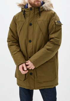 Пуховик, Penfield, цвет: хаки. Артикул: PE018EMGLXZ8. Одежда / Верхняя одежда / Пуховики и зимние куртки