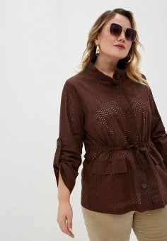 Жакет, Persona by Marina Rinaldi, цвет: коричневый. Артикул: PE025EWHQRW4. Одежда / Пиджаки и костюмы