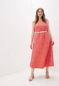 Платье, Persona by Marina Rinaldi, цвет: коралловый. Артикул: PE025EWHQSO7. Одежда / Платья и сарафаны / Вечерние платья
