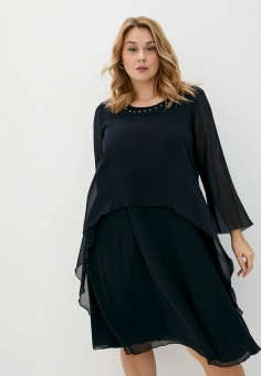 Платье, Persona by Marina Rinaldi, цвет: синий. Артикул: PE025EWJVSA7. Одежда / Платья и сарафаны / Вечерние платья