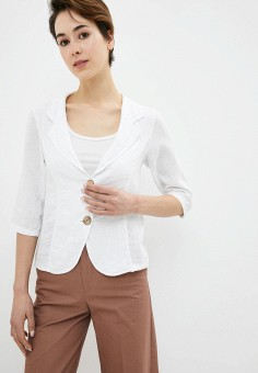 Жакет, Perfect J, цвет: белый. Артикул: PE033EWIGCL3. Одежда / Пиджаки и костюмы