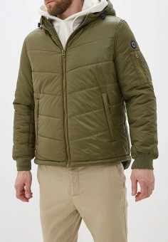 Куртка утепленная, Pepe Jeans, цвет: хаки. Артикул: PE299EMFWWK5. Одежда / Верхняя одежда / Пуховики и зимние куртки
