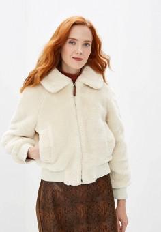 Шуба, Pepe Jeans, цвет: белый. Артикул: PE299EWFWWD8. Одежда / Верхняя одежда / Шубы и дубленки