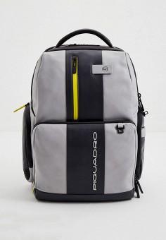 Рюкзак, Piquadro, цвет: серый. Артикул: PI016BMHYZE5. Аксессуары / Рюкзаки