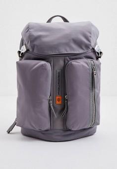 Рюкзак, Piquadro, цвет: серый. Артикул: PI016BMHYZG3.