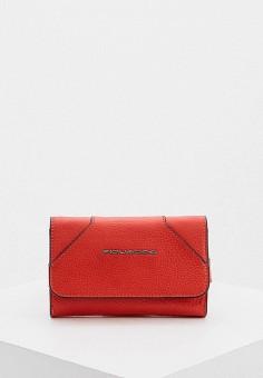 Клатч, Piquadro, цвет: красный. Артикул: PI016BWHEKR0.